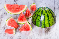 Slices of watermelon Stock Photo