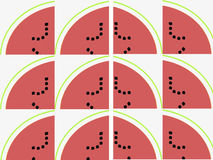 Slices of watermelon pattern Royalty Free Stock Images