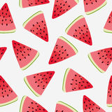 Slices of watermelon. Seamless background Stock Image
