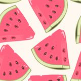 Slices of watermelon seamless pattern Stock Photography