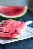 Slices of watermelon, summer berry. Juicy, sweet slices of watermelon, summer berry Royalty Free Stock Photography