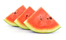 Slices of watermelon on white background Royalty Free Stock Images