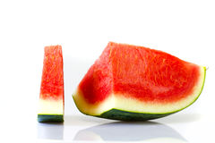 Slices of watermelon on white background Royalty Free Stock Image