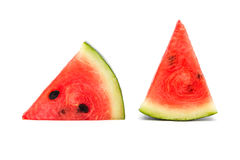Slices of watermelon  on a white background Stock Images