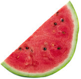 Slices of watermelon on white background. Slices of fresh watermelon on white background royalty free stock photography