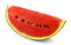 Slices of watermelon on white background. Slices of fresh watermelon on white background stock photography