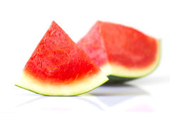Slices of watermelon on white background Royalty Free Stock Photography