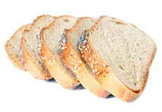 Slices of wheat bread Stock Photography