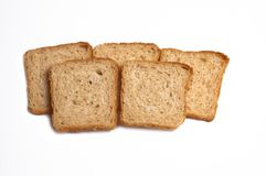Slices of white bread Royalty Free Stock Image