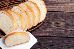 Slices white bread Stock Photography