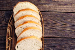Slices white bread Stock Images