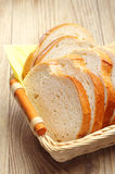 Slices white bread in a basket Royalty Free Stock Photography