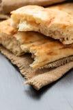 Slices of white bread lavash Stock Image