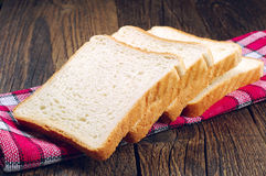 Slices white bread Royalty Free Stock Photo