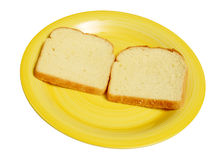 Slices of white bread Royalty Free Stock Photos