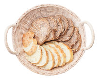 Slices of white and brown bread Royalty Free Stock Photography
