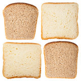 Slices of white and rye bread Stock Photos