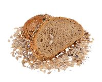 Slices whole grain bread Stock Image