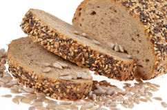 Slices whole grain bread Royalty Free Stock Image