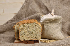 Slices of Whole Grain Bread Royalty Free Stock Photography