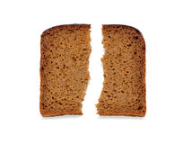 Slices of whole wheat bread Stock Photography