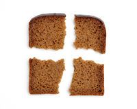 Slices of whole wheat bread Royalty Free Stock Photo