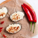 Wholegrain bread with spices Royalty Free Stock Images