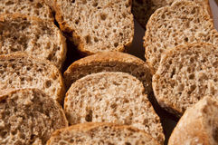 Slices of wholemeal bread Stock Images
