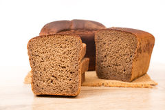 Slices of wholemeal bread Stock Photos