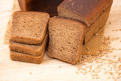 Slices of wholemeal bread Royalty Free Stock Photo