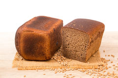 Slices of wholemeal bread Stock Photo