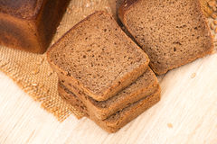 Slices of wholemeal bread Stock Photography
