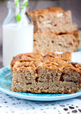 Slices of wholemeal cake Royalty Free Stock Image