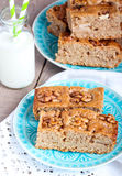 Slices of wholemeal cake Royalty Free Stock Photo
