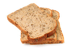Slices of wholemeal seeded brown bread Stock Photo