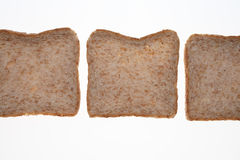 Slices of Wholemeal toast bread Royalty Free Stock Image