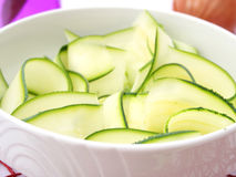Slices of zucchini. Some fresh slices of zucchini Stock Image