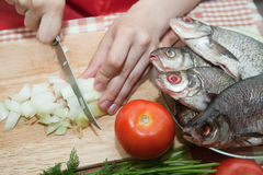 Slicing of bow Stock Photography