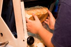 Slicing Bread Stock Image