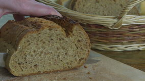 Slicing Bread stock video footage