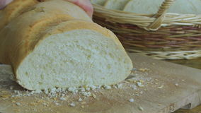 Slicing Bread stock video