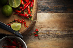 Slicing Chilli pepper Royalty Free Stock Photography