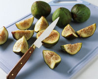 Slicing the figs Stock Image
