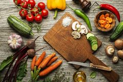 Vegetable cooking Royalty Free Stock Images