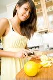 Slicing Lemons Royalty Free Stock Photo
