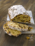 Slicing  Stollen Stock Image