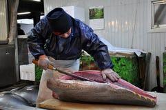 Free Slicing Sushi In Tsukiji Market Royalty Free Stock Photos - 18471138