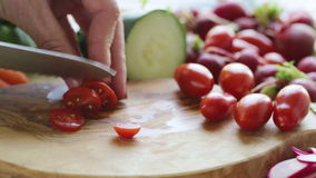 Slicing Tomatoes stock video footage