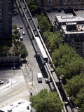 Slicing Through Town. Monorail in Seattle Stock Photography
