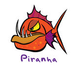 Slick cool cartoon style piranha icon  format Royalty Free Stock Photography
